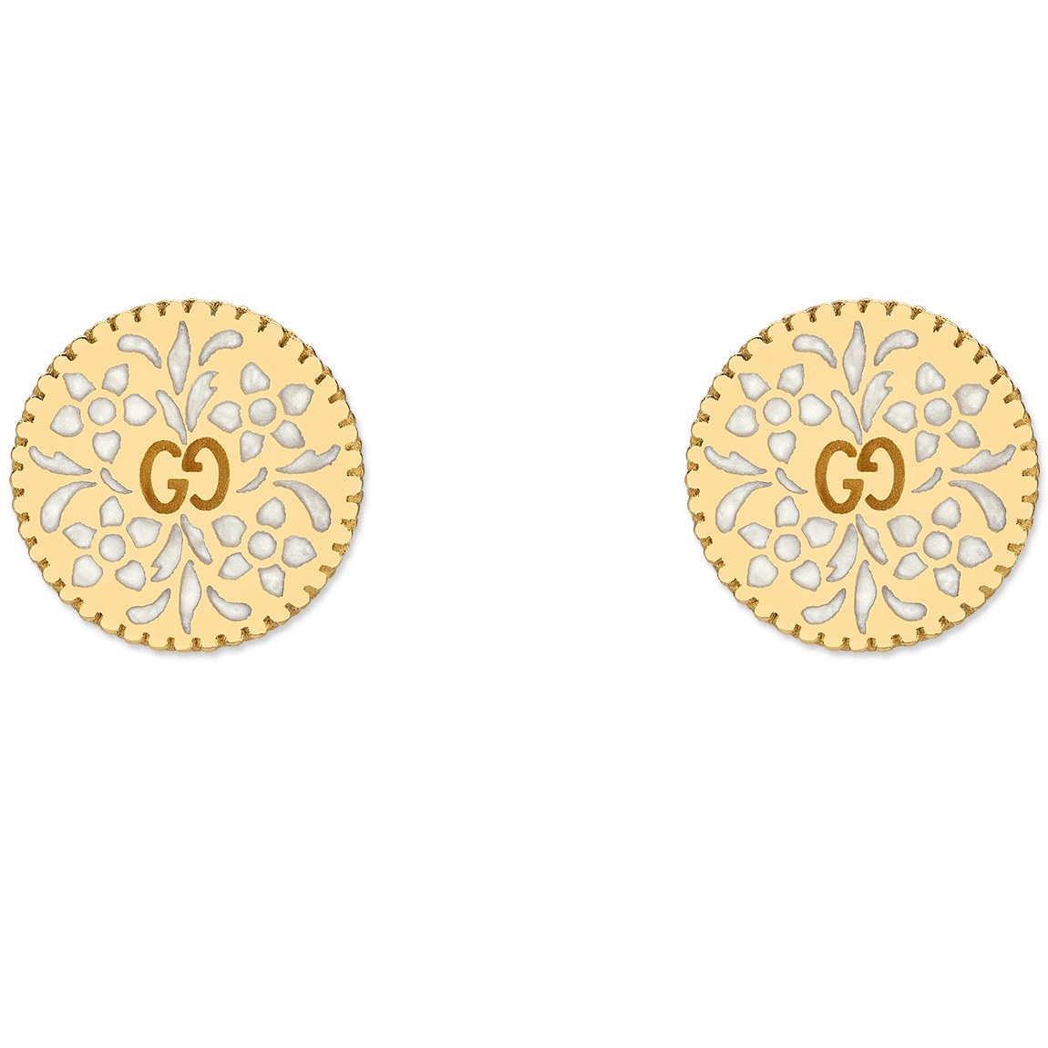 Gucci Icon Yellow Gold Earrings YBD479368001