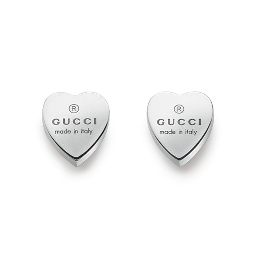Gucci Trademark Heart Earrings Silver