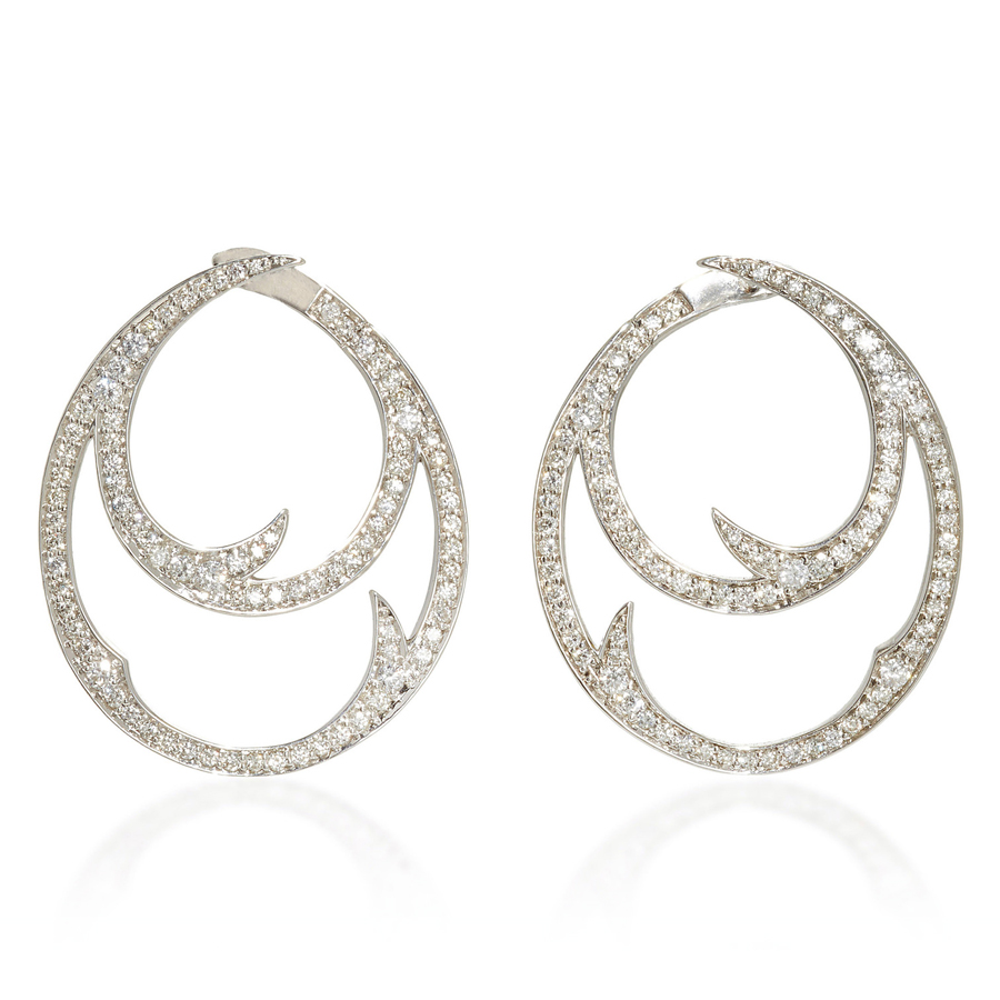 Stephen Webster Thorn Double Hoop Earring WE0912 WG WD
