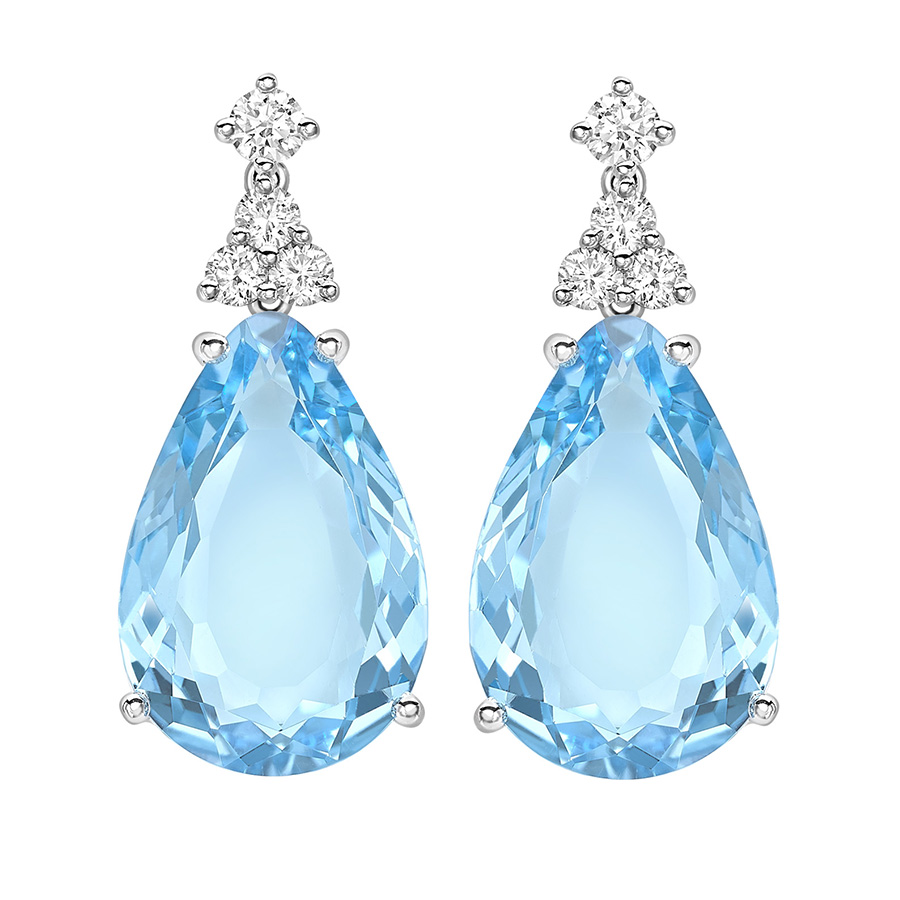Kiki McDonough Candy Mini Blue Topaz & Diamond Earrings