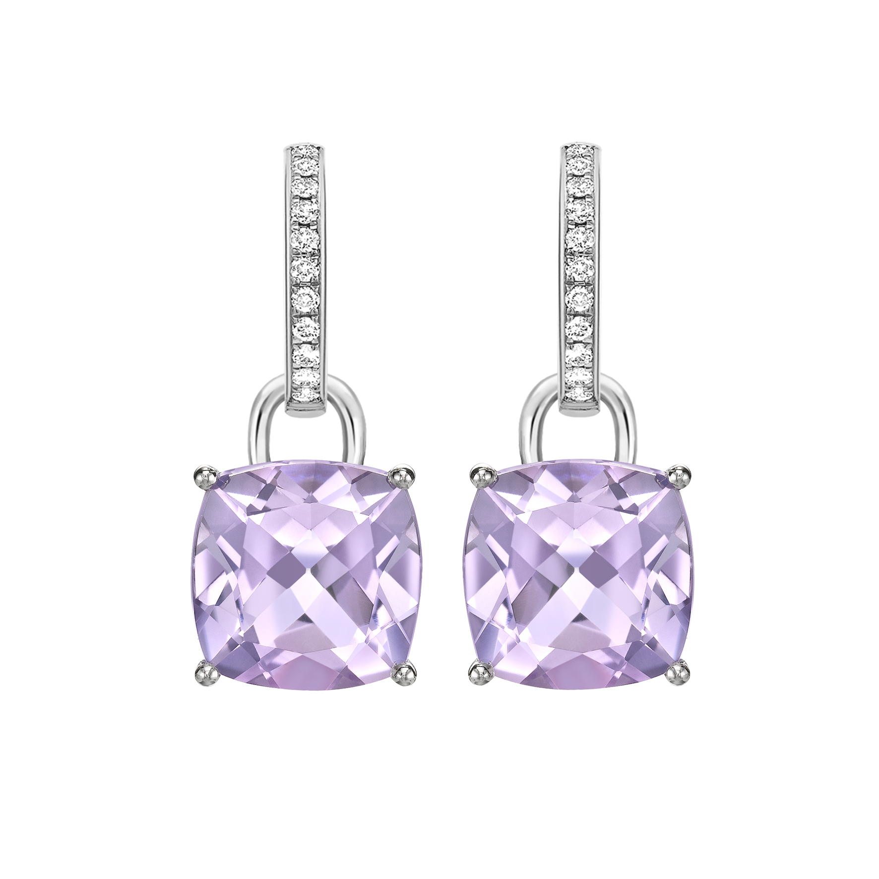 Kiki Lavender Amethyst Classic Earrings