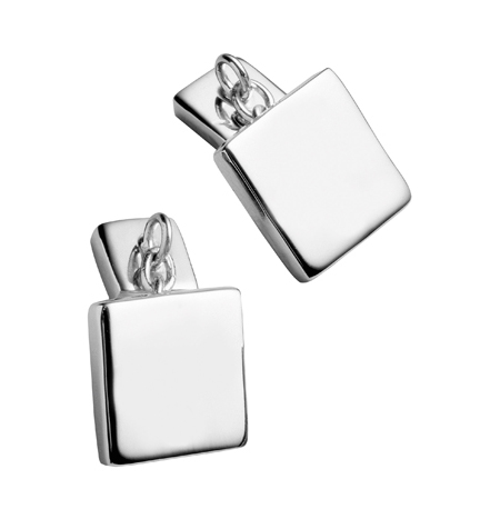 Carrs Silver Square Cufflinks