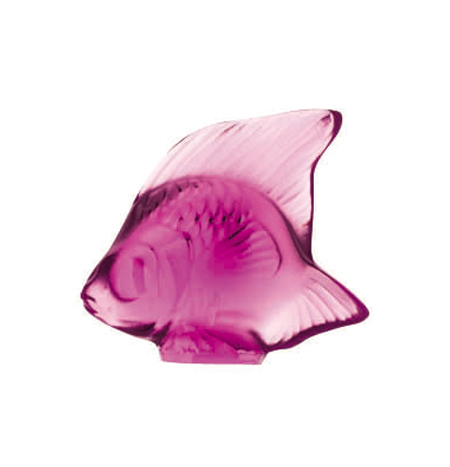 Lalique Fuchsia Fish Sculpture