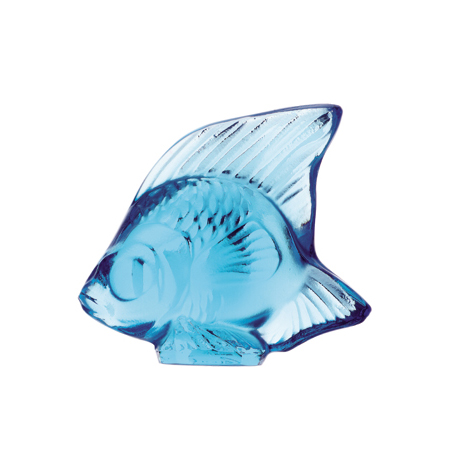 Lalique Light Blue Fish Sculpture 3000200