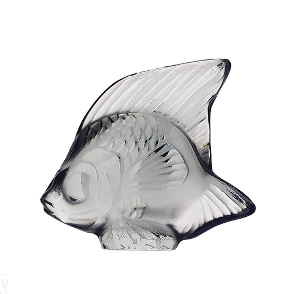 Lalique Grey Fish Sculpture 3001400