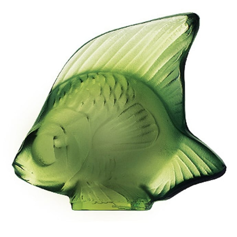 Lalique Green Fish Sculpture 3001200