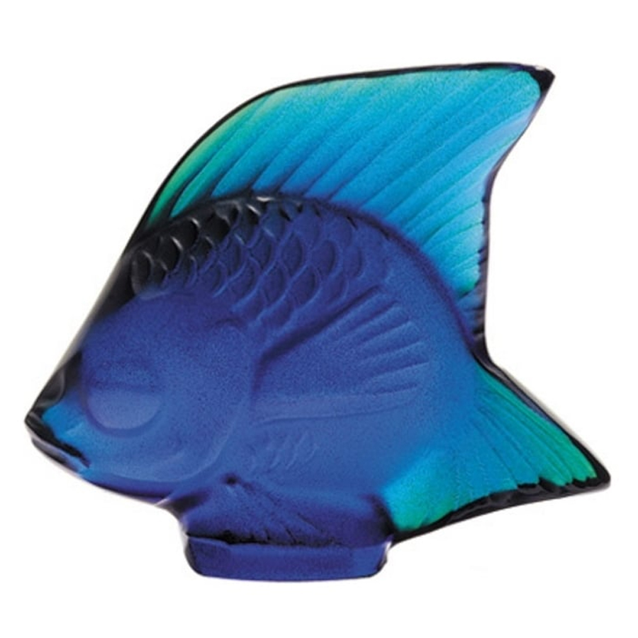 Lalique Fish Cap Ferrat Blue 3002100