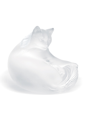 Lalique Happy Cat Sculpture