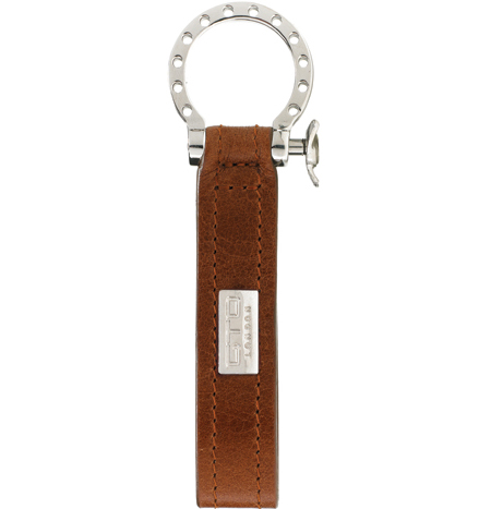 GTO London Tan Leather Key Fob GL41-2