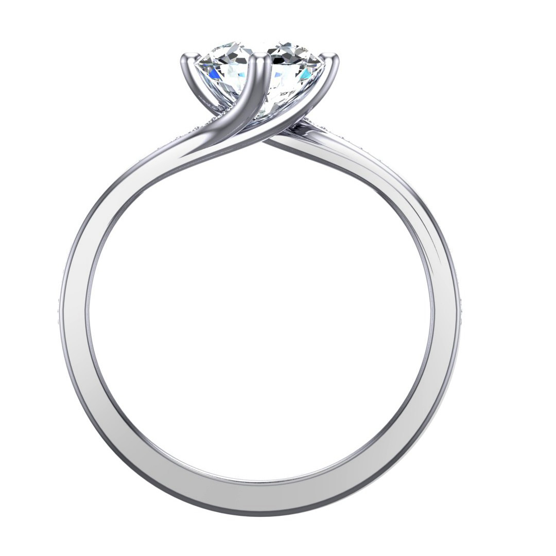 Round Brilliant Diamond Engagement Ring, 0.70ct