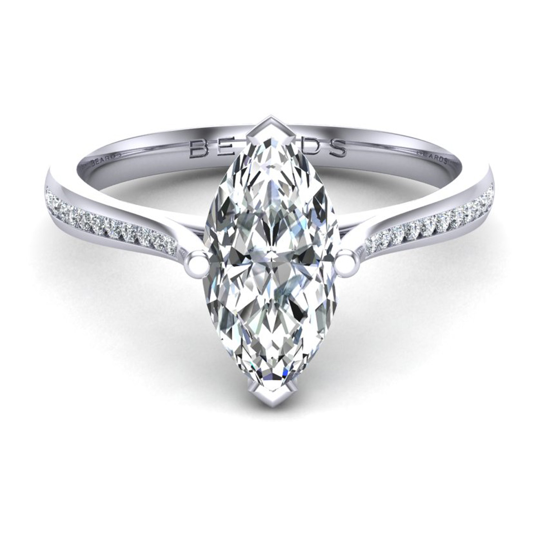 Classic Marquise + Diamond Shoulders Channel
